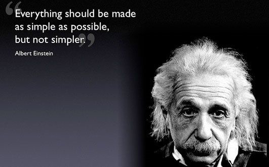 Picture and quote of Albert Einstein