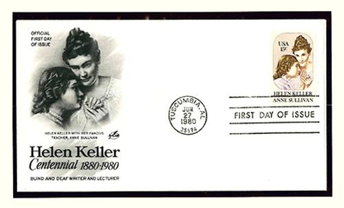 Helen Keller Centennial Postcard
