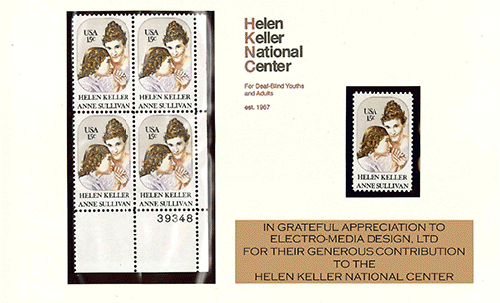 Helen Keller National Center Stamps